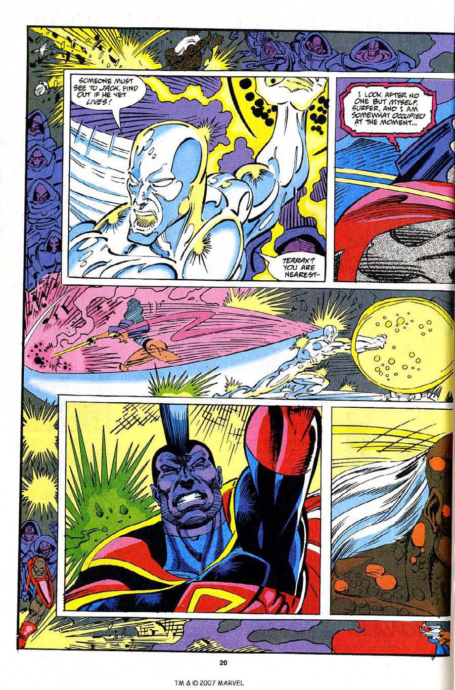 Read online Silver Surfer (1987) comic -  Issue #82 - 22