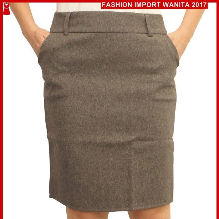 ADR184 Rok Wanita Abu Kerja Basic Import BMGShop
