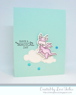 Have a Magical Day card-designed by Lori Tecler/Inking Aloud-stamps from Taylored Expressions