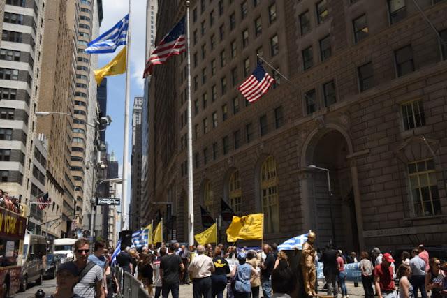 Τελετή έπαρσης των σημαιών της Ελλάδας και του Πόντου στο Μανχάταν