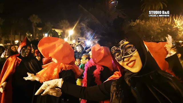 Κερδίζει τις εντυπώσεις το Βενετσιάνικο καρναβάλι στο Ναύπλιο (βίντεο)