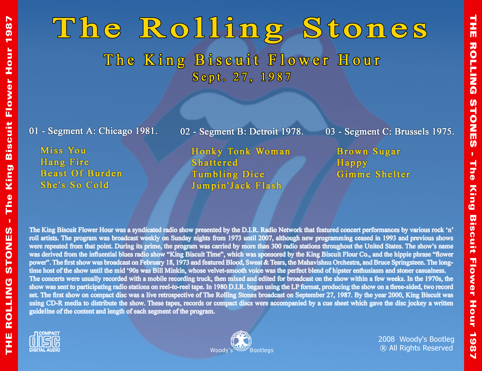 Reliquary Rolling Stones [1987 09 27] A plete KBRH