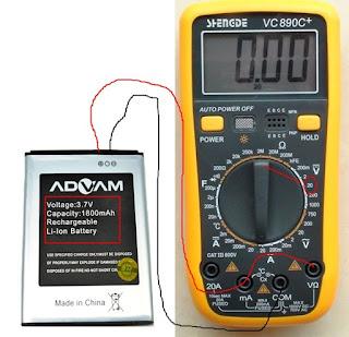 Cara Mengecek Baterai Hp Dengan Avometer/Multitester