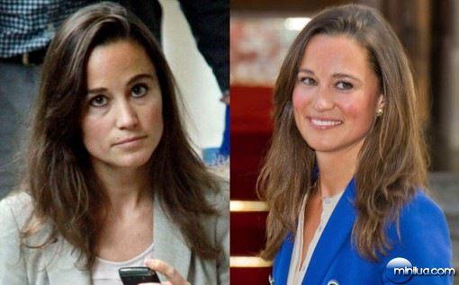 Famosas antes e depois da maquiagem