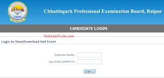 CGVyapam Steno Skill test call letter