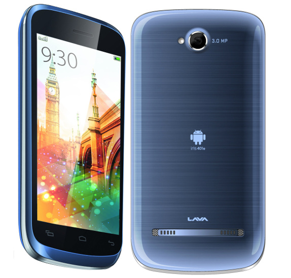 Lava Iris 401e specifications and price in India