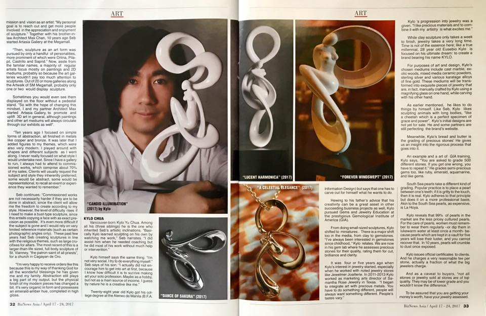Sculptures on BizNews Asia & Images Asia Magazines 2017