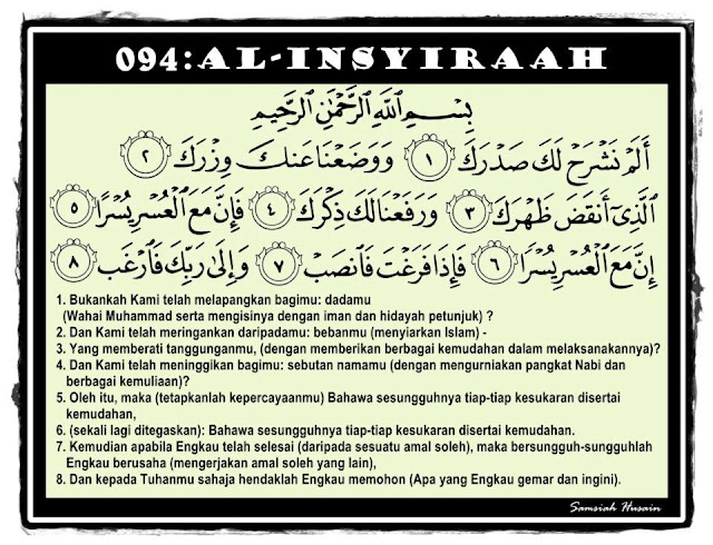 Image result for surah insyirah