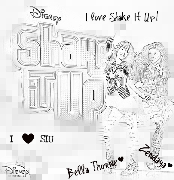 Disney shake it up coloring pages coloring pages for Austin and ally coloring page