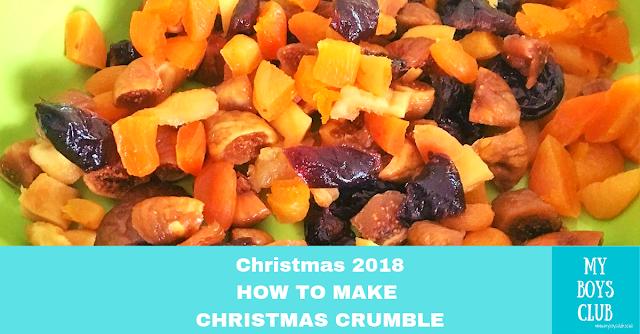 How to Make Christmas Crumble vegan easy recipe