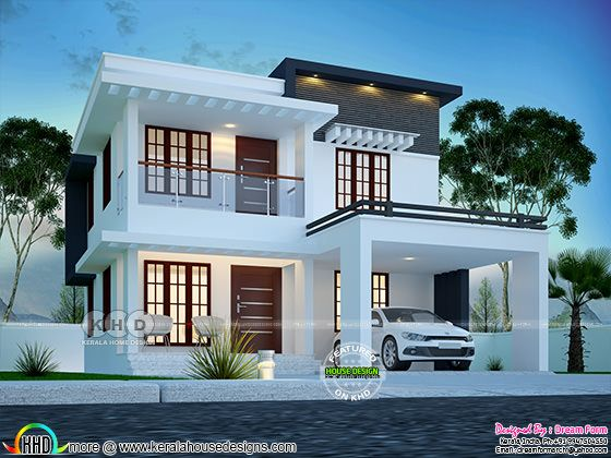 3 bedroom 1790 sq.ft modern home design
