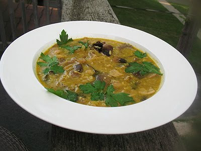 mushroom thai soup