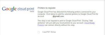 Cara  print data dari android ke printer dengan Cloud Print  secara online