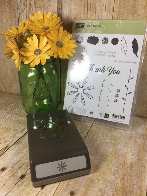 Daisy Delight Stamp Set, Daisy Punch, Daisy Bundle, Stampin Up Card, Save