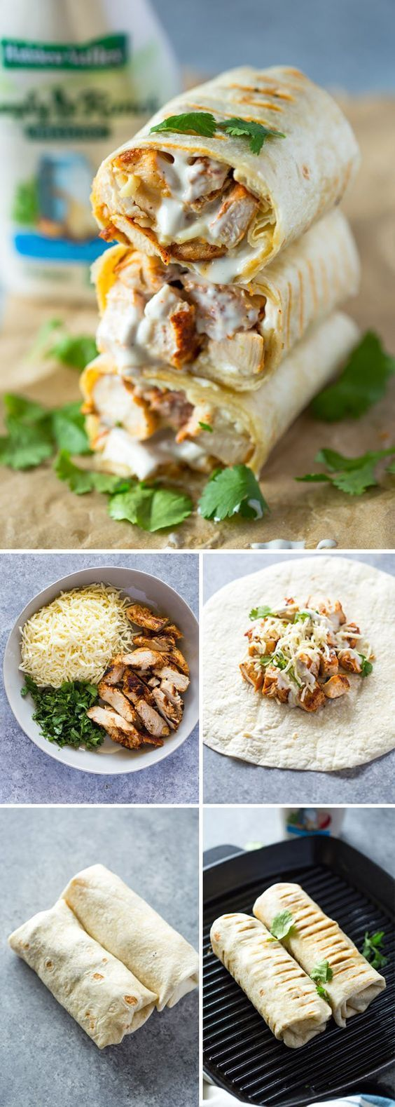 Chicken Ranch Wraps - Chicken Recipes