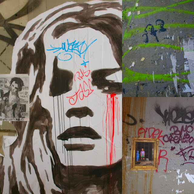 Colorful Kate Moss street graffitti in Paris by Hello Lovely Studio