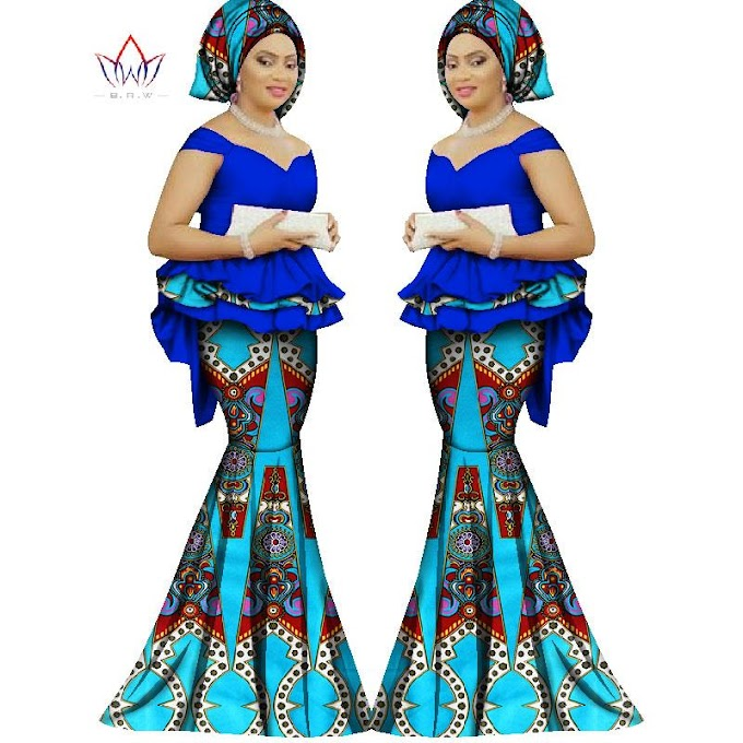 Check Out Our Collection of Beautiful Skirt and Blouse for African Women Pics