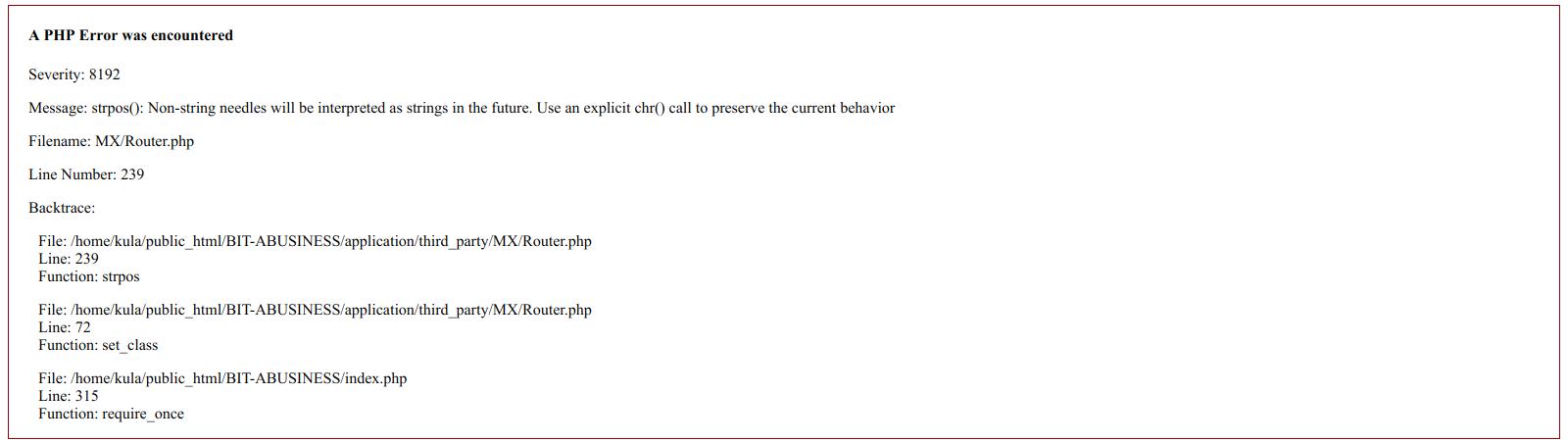 [SOLVED] Error strpos() pada HMVC Codeigniter di PHP 7.3