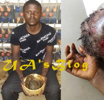 Lagos Yahoo Boy Caught Trying To Kill Own Mother For Ritual, Victim Still In Coma ...See Photo