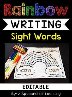 Rainbow Writing and FREEBIE