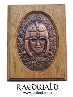 Anglo Saxon Sutton Hoo Helmet wall plaque in copper