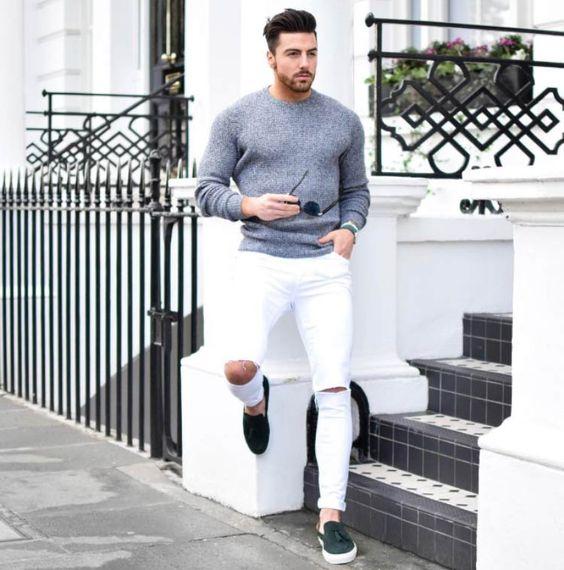 Look masculino calça branca
