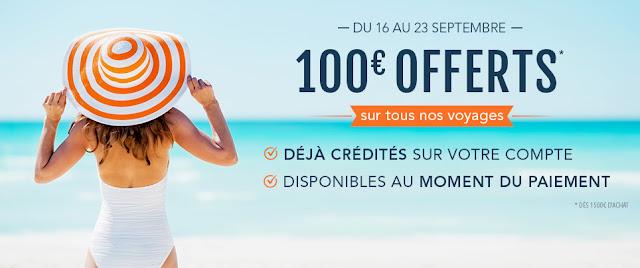 100 euros offerts pour vacances pas chers, promo Idiliz