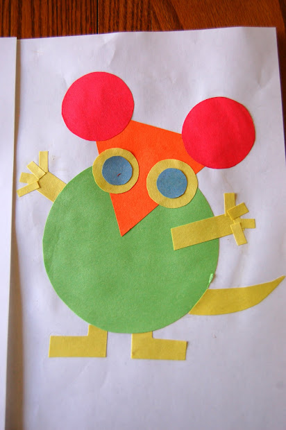 Book Mouse Shapes Activities
