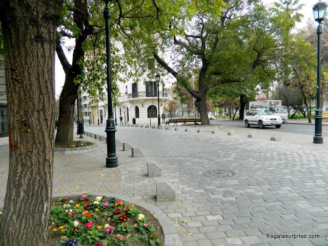 Uma rua do Bairro Lastarria, em Santiago do Chile