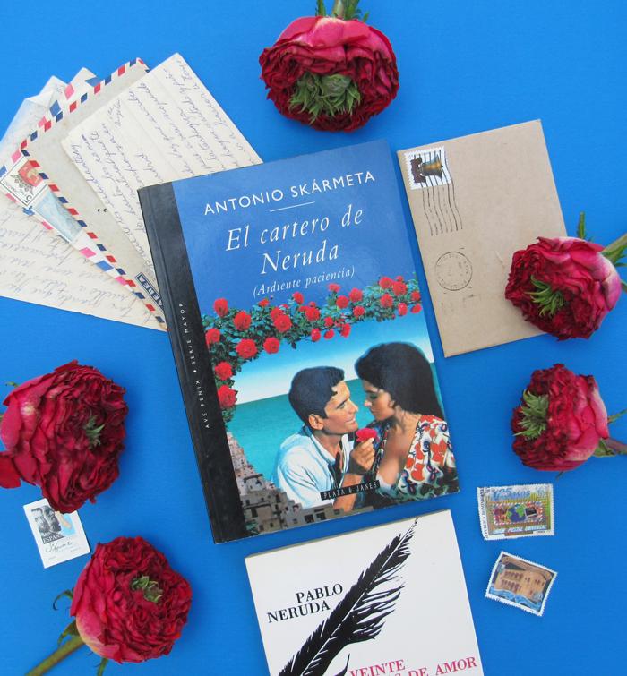 El Cartero de Neruda, Il Postino, The Postman, Antonio Skármeta, cartas, rosas, libros