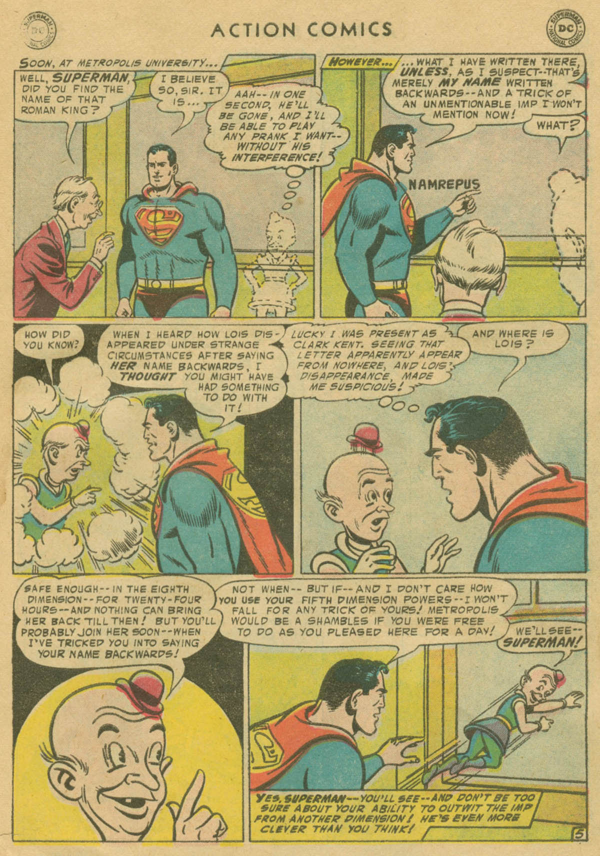 Read online Action Comics (1938) comic -  Issue #208 - 6