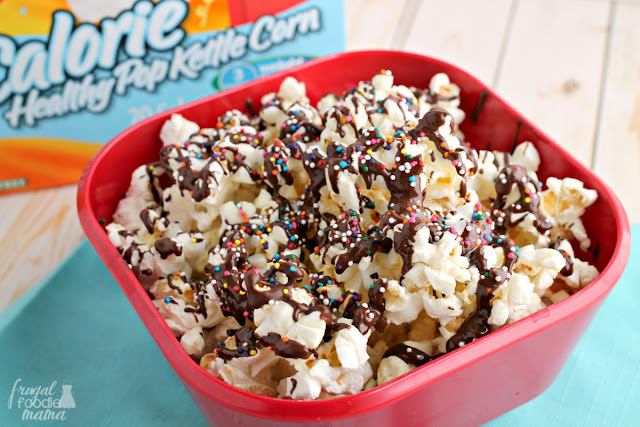 This Easy Nonpareil Kettle Corn combines two movie time favorites into one sweet & salty (& practically guilt-free!) treat.