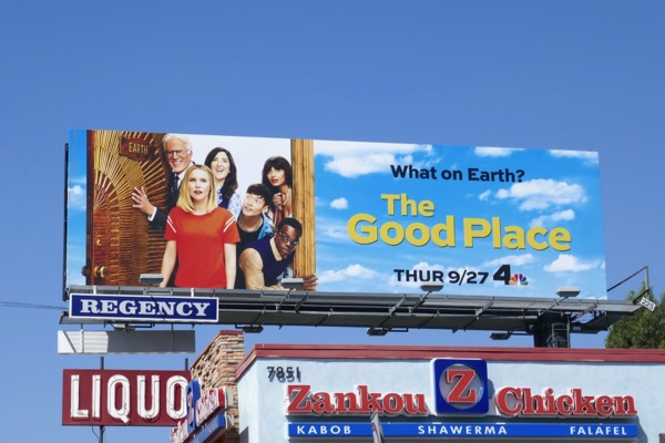 Daily Billboard: The Good Place season 3 TV billboard    Advertising
