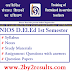 NIOS Deled Exam date Sheet April 2018 | NIOS Deled Time Table 2018 April May