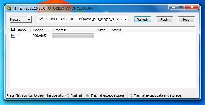 Installer ROM avec MiFlash Tools