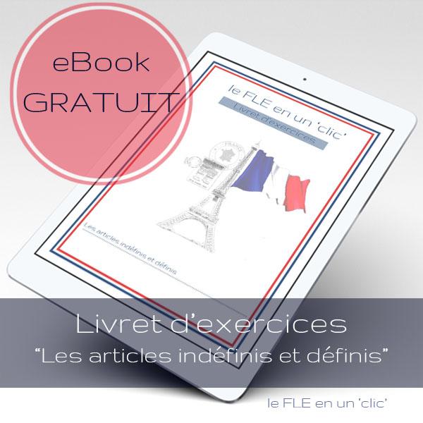 Les articles indéfinis et définis en française, ebook gratuit livret d'exercices