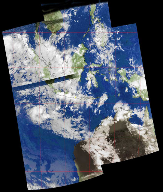 Composite Image NOAA Satellites over Indonesia