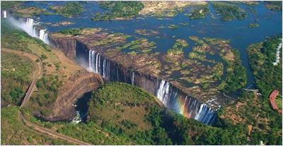 น้ำตกวิกตอเรีย (Victoria Falls)