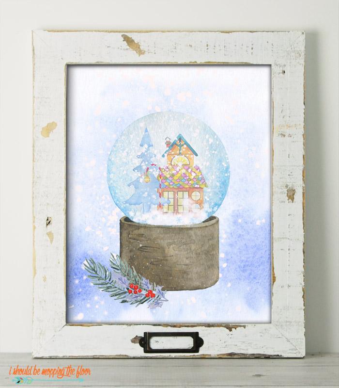 Snow Globe Printable