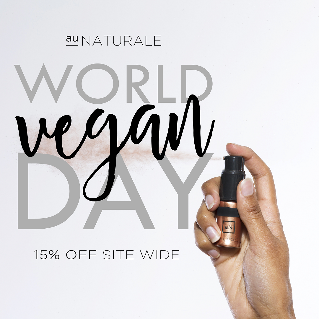 Au Naturale Cosmetics World Vegan Day Discount Code