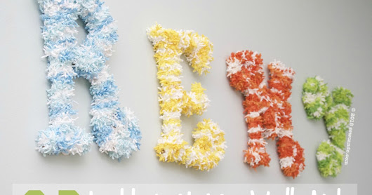 Fluffy Three Dimensional Letter Name Wall Art