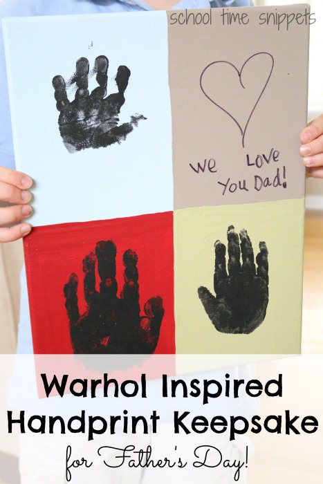Handprint art keepsake for kids