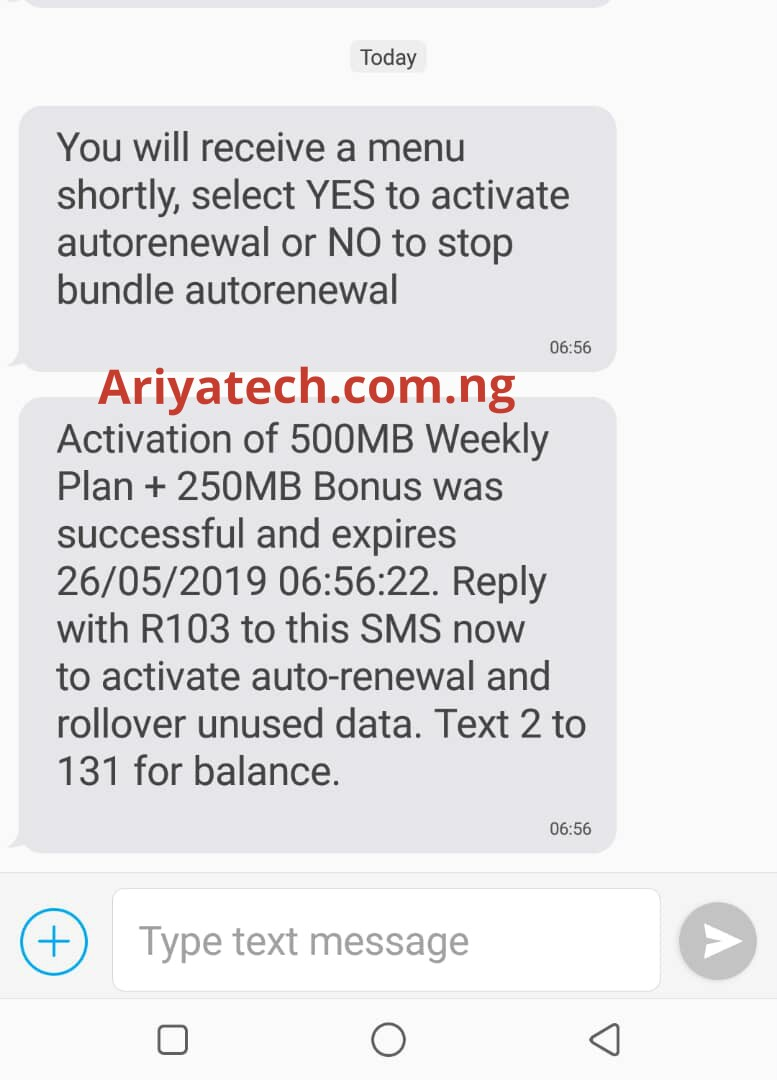 How To Get Free 500mb on Any Network - Ariyatech