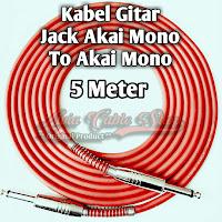 Kabel Gitar Jack Akai Mono To Akai Mono Stainless 5 Meter