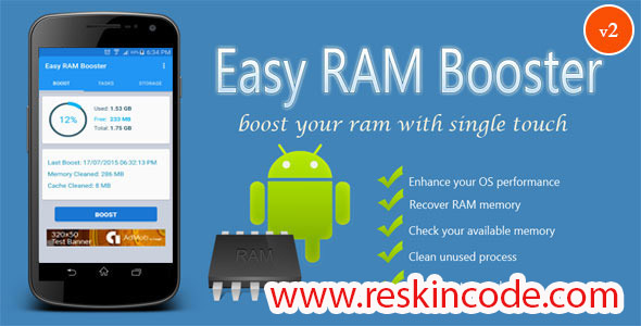 Easy Ram Booster Admob Integrated