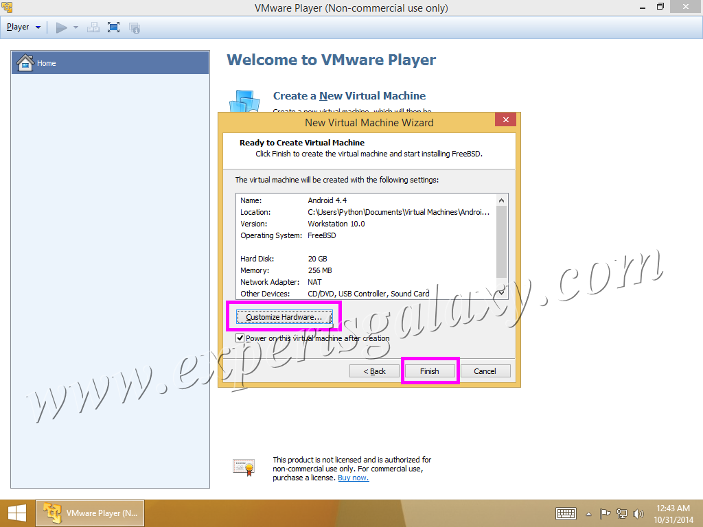 Customize Virtual Machine Hardware