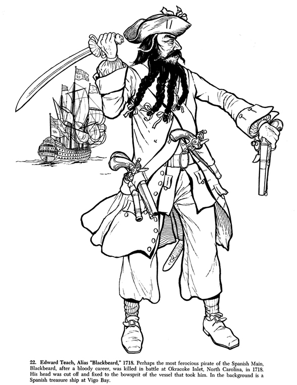 beard coloring pages   inkspired musings: Getting ready for Talk Like A Pirate Day!
