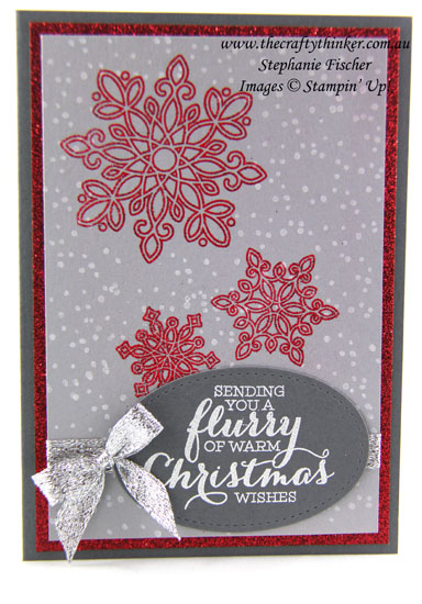 Stampin Up, #thecraftythinker, Flurry of Wishes, Christmas Card, Xmas, Stampin Up Australia Demonstrator, Stephanie Fischer, Sydney NSW