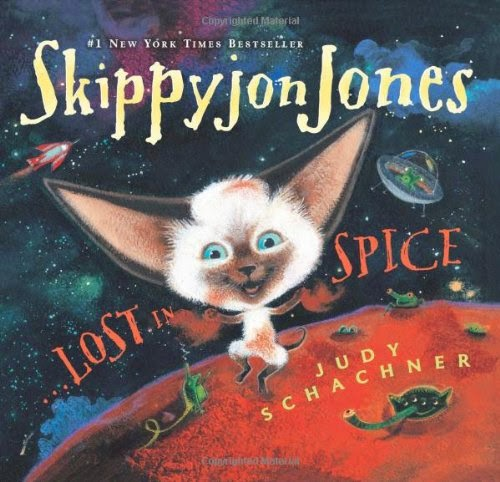 Skippyjon Jones, Lost in Spice, part of children's book review list about outer space