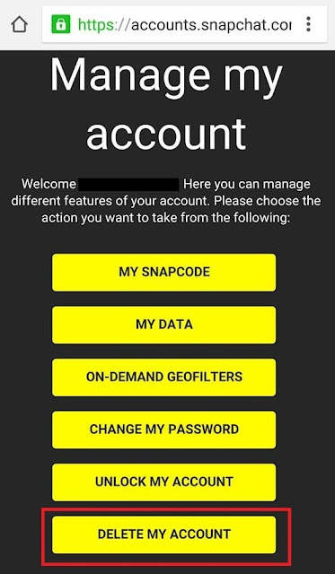 How to delete or deactivate snapchat account permanently